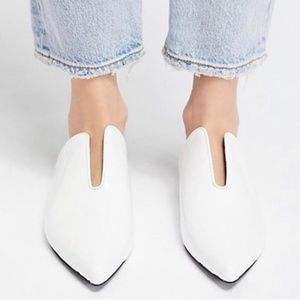 Jeffrey Campbell White Patent Cleo Mules